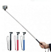 New 2014 Extendable Aluminum Telescoping Handheld Monopod for GoPro Hero 1/ 2/ 3 Camera  and AEE Camera(without gopro mount )