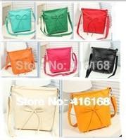 2014 new summer fashion bow packet handbag shoulder bag Messenger bag free shipping 10 colors