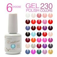6 pcs Cristina UV Gel Nail Polish Professional Shellac,Temperature Change,Luminous Color 230 Colors 15ml 0.5oz drop shipping