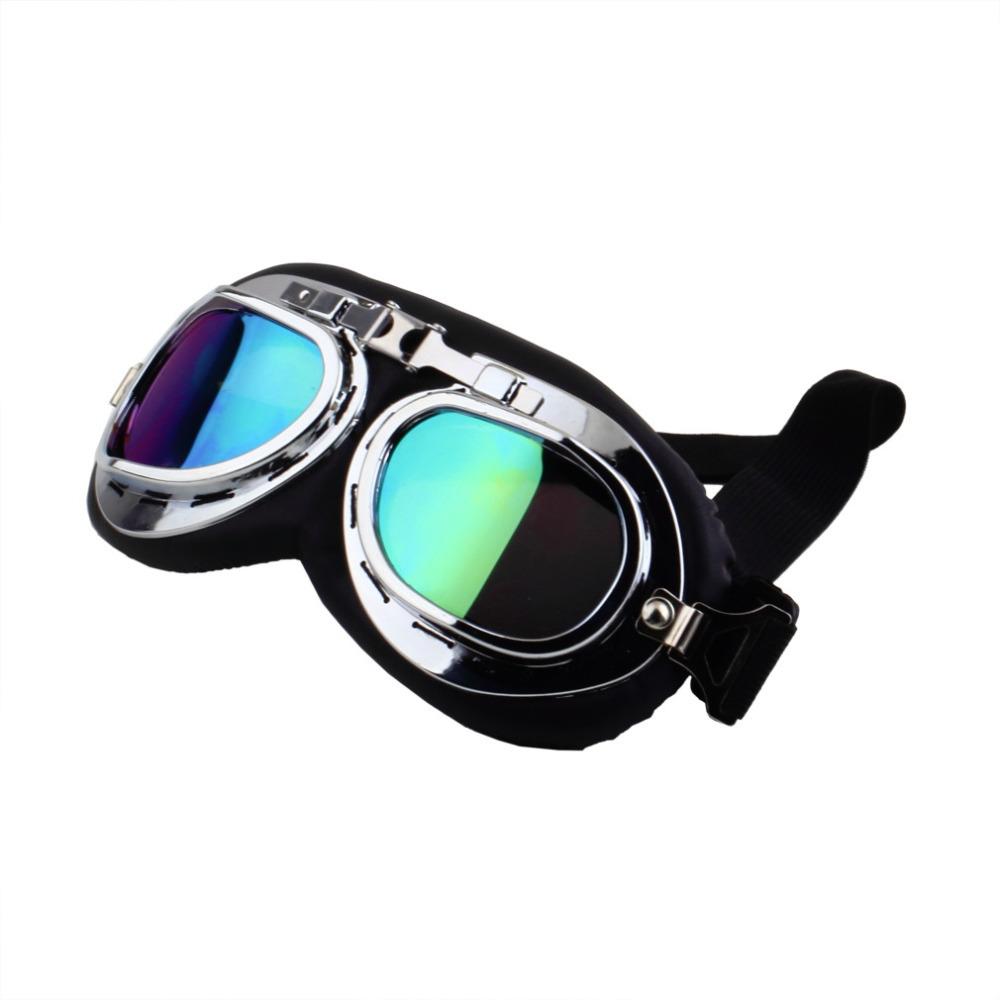 1Pcs Scooter Pilot Goggles Helmet Vintage Anti-UV Motorcycle Helmet glasses Motocross Brand New(China (Mainland))