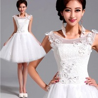 lace Bridesmaid Dresses 2014 Bride elegant ball gown flower girl party .2122