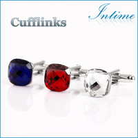 Free shipping 2014 Arylic Purple Black Crystal Red color high quality men cufflinks best gift dropping shipping