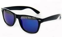 Special Custom 2014 New Mirror Colorful Lens PC Frames Wayfarer Sunglasses Unisex Fashion Sunglasses