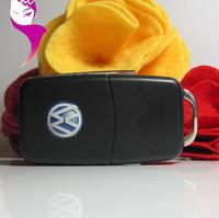 Wholesale Hot sale genuine1G/8G/16G/32G usb drive thumb drive usb flash drive plastic Volkswagen VW car key Free shipping