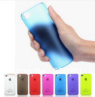 For iPhone 5S Case,0.3mm Ultra Thin Slim Transparent Matte Frosted Hard Cover Case for iPhone 5 5G 5S Free Shipping PP5S