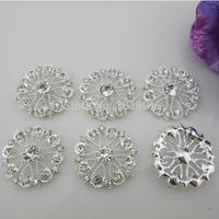 (FL139) Shiny Metal Rhinestone Diamond Button Flatback For Swing Craft, Factory Direct