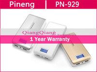 100% Original Pineng Power Bank 15000mAh PN-929 Dual USB LED Flashlight Universal For Samsung Lenovo Phones/Tablet PC/Gold