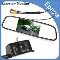 480 x 272 4.3 Inch TFT LCD Display Car Rear View Mirror Monitor + 7 IR Lights Night Vision RearView Reversing Backup Camera