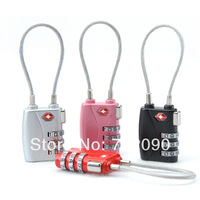 TSA719 Resettable 3 Digit Combination Padlock free shipping Suitcase Travel Lock TSA locks Luggage Padlock