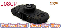 Free Shipping x6 Dual Lens Car DVR  H.264 1080P Full HD 1920x1080p 30fps SOS16 lamps Night VIsion Seamless loop video