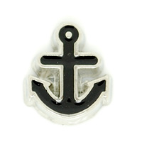 Floating Locket Charms, Anchor, Fit Floating Lockets