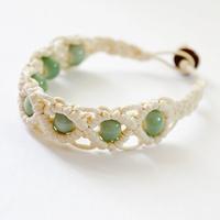 Original hand-woven lanyard     ceramic bracelet    Ethnic   art