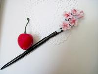 Handmade ceramic jewelry Ethnic step shake costume jewelry tiara vintage ceramic lady flower hairpin