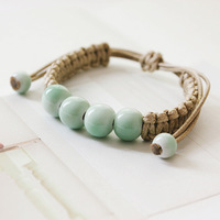 Ceramic handmade woven bracelet     hand rope   small fresh Sen female jewelry jewelry accessories