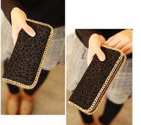2014 Women's Fashion Leopard Print Wallets Standard Long Wallet New Arrival Free Shipping