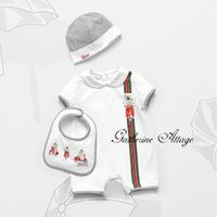 summer kids baby girl rompers set Short sleeve 3 pcs Newborn baby boy romper Children's baby clothing High Quality