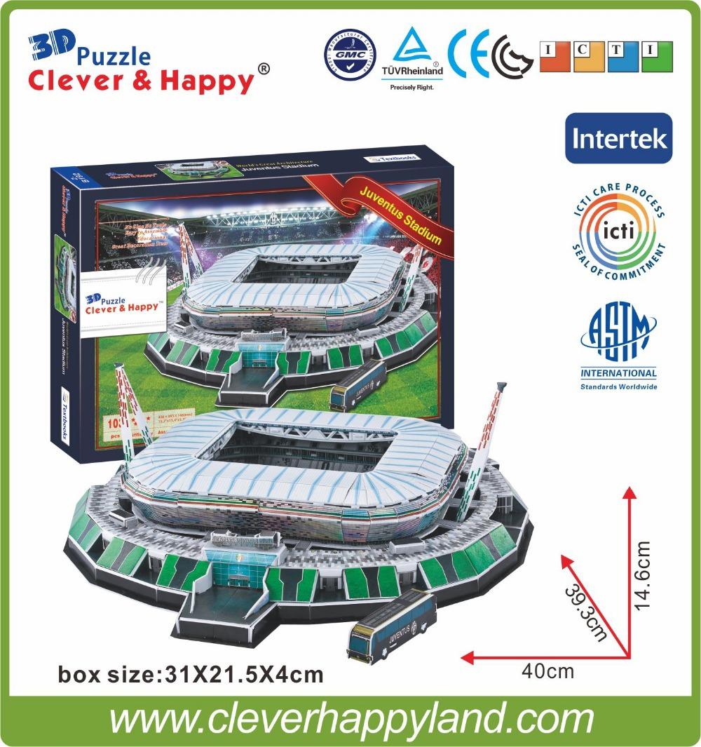 clever&happy 3D Puzzle Model Stadio Juventus Arena Stadium FC Football Club Home Souvenir NEW(China (Mainland))