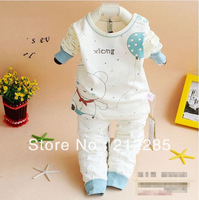 2014 Spring & Autumn Good Quality Long Sleeve Cotton Baby Sleep Set PyJamas Kids 2pcs Drop Shipping