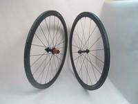 1070g Farsports Superlight 38mm carbon tubular wheels with EDhub/EDhub ceramic bearing+Sapim cx-ray aero spokes