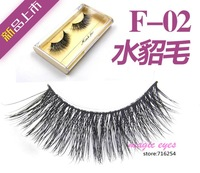 F-02 soft, thick and long sections cross mink eyelashes luxury holiday exports plus exclusive new clothes