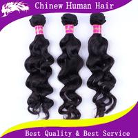 "Brazilian Hair Weaves Loose Wave Hair Extension 3 pcs lot Mix length 8""-30"" Unprocessed Remy Brazilian Loose Wave Braiding Hair"