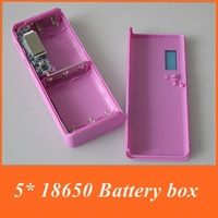 Eastshine Battery Case Portable 5* 18650 Battery box Power Bank With 2 USB Output + Free Shipping