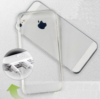 TPU Transparent mobile phone protect case fit for iphone 5/5s with dust plug