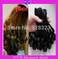 2bundles/lot Double Drawn Funmi Hair Grade 6A  virgin brazilian aunty funmi hair extensions human hair weave for your nice
