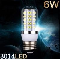 Free shipping New arrival  LED bulb  SMD 3014 E27  6w led corn bulb lamp, 120LED Warm white /white led lighting
