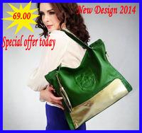Handbags New Skull pressed leather bag 2014 genuine leather bag women's print handbag fashion women's portable messenger bag