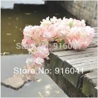 Wholesale 100pcs Cherry Blossom (192pcs flower/stem)Free Shipping Decorative Flower Artificial Wedding Flower Party Event Floral