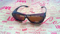 Hot  Brown Overglasses - Polarized Over Glasses  Sunglasses Flip Fit Most Over Glasses-New