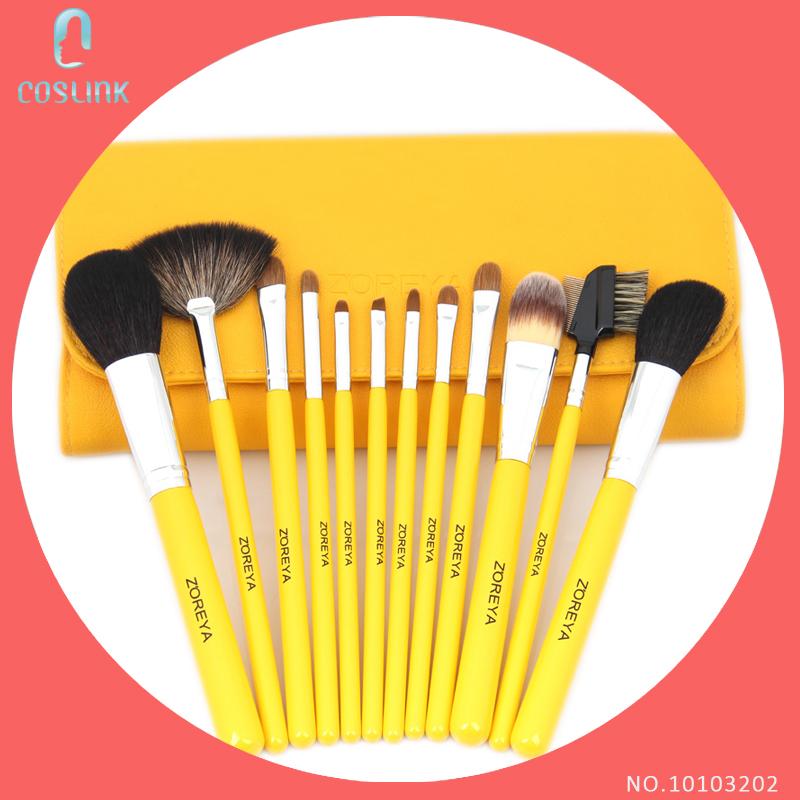 Bright Yellow Makeup Brush