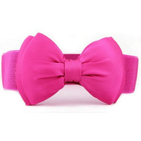 2014 Fashion Women 6 Candy Colors Chiffon All-match Wide Stretch Waist Elastic Cummerbund N48 Free Shipping Cintos Cinturon