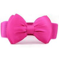 2014 Fashion Women 6 Candy Colors Chiffon All-match Wide Stretch Waist Elastic Cummerbund N48 Free Shipping Cintos Cinturon