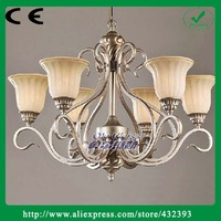 Modern Brief European Style Wrought Iron Resin Lustre Chandelier Rustic Chandelier Light Fixture Home Decoratitive Luminaire