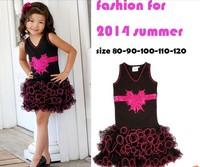 hot sale casual  baby girls dress  children outerwear summer clothes  newborn crochet outfits fashion cake flower dress