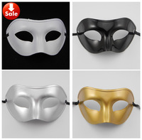 simple man mask Venetian masquerade party mask Carnival Halloween costume gold silver white black Christmas gift free shippping