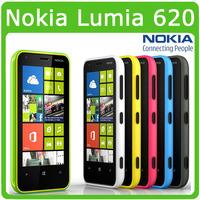 Dual core Original Nokia Lumia 620 5MP WIFI 3.8 Inch GPS Windows OS 8GB Internal Memory 512 RAM Unlocked Refurbished