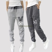 Korean 2014 New Sports Pants Loose Casual Pants Cotton Women's Pants Harem Pants Trousers  Rabbit Free drop Shipping