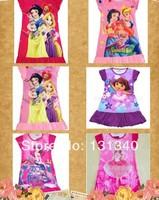 2014 New Free shipping 1 pcs baby pajamas/baby Snow White Pajamas For Girls/Children Nightgown/Homewear/Kids Sleepwears