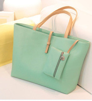 Women Handbags Bolsas Femininas Promation! Hot! Simple Pu Leather Bag Handbag Candy Color Fashion Ladies Women's Shoulder -a26