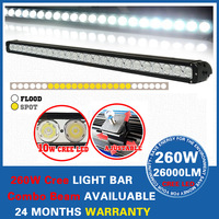 """42"""" 260W IP68 Cree LED Light Bar with Combo Beam for 4WD 4x4 Offroad Jeep Truck Car Mining Boat LED Work Light"""