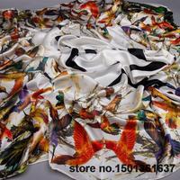 Free shipping Swordbill mcq mq digital heavy crepe satin large silk measurement large facecloth cape scarf