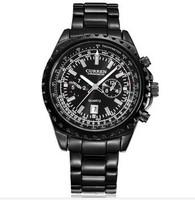 new 2014 men sports watches CURREN stainless steel analog quartz movement clock DATE luxury men's watch black male clock