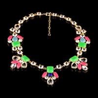 Fashion fashion accessories neon multicolour crystal pendant necklace pendant necklaces pendants best friend