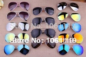2014 Sale Brand Designer Blue Mirrored Sunglasses Men Silver Mirror Vintage Sunglasses Women Glasses Free Shipping(China (Mainland))