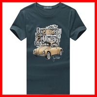 New  Men  Full  Cotton  O-Neck Short-Sleeve  Slim  Vintage Car  Print  T-shirt  , ASIAN SIZE (M-3XL) , G2145