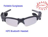 Hot Sale Wireless HIFI Bluetooth Headset Headphone Earphone Sunglasses for Cell Phone Mobile Phone,free shipping