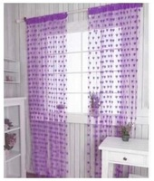 Quality romantic heart curtain partition entranceway anode-screening finished product encryption curtain curtain purple